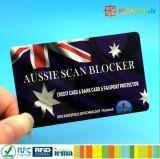카드를 막는 은행 정보 프로텍터 반대로 RFID 검사