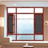Ausgezeichnetes fehlerfreie Isolierungs-Aluminiumgehäuse-Flügelfenster-Fenster (FT-W108)