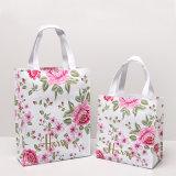 Deux tailles imperméabilisent le sac d'emballage floral d'achats de pivoine de PVC (H036-001)
