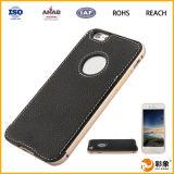 Fabricante de cuero de China de la producción de la caja del teléfono celular