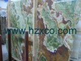 Белая плитка камня Onyx, каменный сляб, естественный камень, плакирование каменной стены, тазик Onyx