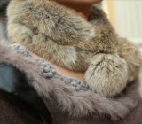Fashion Rabbit Fur Scarf (YKY4360)女性