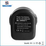 Batería recargable de Dewalt 12V 1.5ah Ni-CD