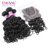 Virgin brasiliano Hair Bundles con Lace Closure