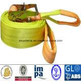 Carico Lashing Belt con il CERT di TUV/GS/CCS