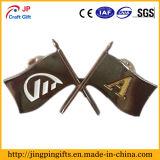 Grabado de encargo del logotipo de la bandera insignia de esmalte Pin de la solapa