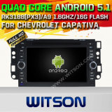Carro DVD GPS do Android 5.1 de Witson para Chevrolet Capativa com sustentação do Internet DVR da ROM WiFi 3G do chipset 1080P 16g (A5750)