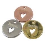 Metal rotondo Hang Tag Charms per Jewelry
