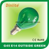 E14 en dehors d'ampoule incandescente colorée de globe