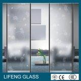 Glace enduite r3fléchissante décorative de panneaux de mur de bronze/or pour des écrans de douche