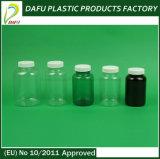 bouteille en plastique de médecine d'espace libre de forme ronde de l'animal familier 300ml