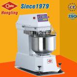 50 Kg de lujo Doble Doble Movimiento automático de velocidad espiral pasta de pan mezclador de 130 litros