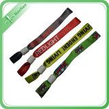 Wristband tecido da tela da venda direta da fábrica festival feito sob encomenda