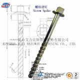주문을 받아서 만들어진 Railway Timber Screw, Drive Screw, Coach Screw, Steel Rail Fastening를 위한 Manufacturers