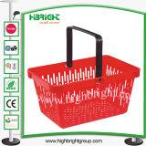 Griff-beweglichen Plastikeinkaufskorb für Supermarkt aussondern
