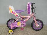 사랑스러운 분홍색은 바구니/여자 아기 자전거 아이들/옥외 장난감 아이 자전거를 가진 12명 인치 소녀 자전거 12 인치를 선회한다