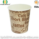 6oz tazza calda di carta a gettare, tazza di carta stampata (6oz)