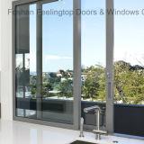 Ventana de cristal deslizante comercial de aluminio con calidad superior (FT-W85)