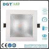 실내 중단된 LED 가벼운 시리즈 150*150mm 구멍 크기 사각 옥수수 속 Downlight