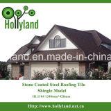 El azulejo de azotea de la hoja de metal con la piedra cubrió (el tipo de la ripia)