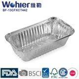 Рециркулированные контейнеры еды алюминиевой фольги принимают вне лотки крышки доски контейнера