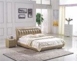 Кровать кожи мебели дома мебели спальни мягкая