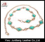 Courroie à chaînes avec le métal et la turquoise pour des robes