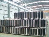 Q235, Q345 Uso construcción rectangular de tubería de acero