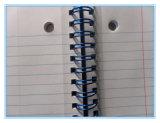 Reliure de cahier d'anneau de fil de fer galvanisée par attache de Yo