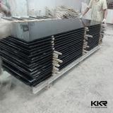 Surface solide acrylique modifiée par noir de marbre artificiel blanc pur