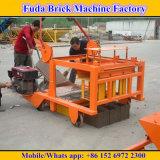 Máquina móvel Diesel do tijolo Qm4-45 para o bloco contínuo oco concreto