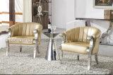 Sofá moderno de la sala de estar con el cuero superior para LC17 casero