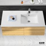 Pierre artificielle Solid Surface mur Hung Salle de bains Évier