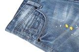 OEMの新式の卸し売り高品質方法によって洗浄されるカラーペンキの人のデニムはジーンズをショートさせる