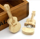 Bambu / Madeira Guitarra criativa USB Flash Memory Stick
