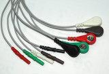 Cable del Leadwire ECG del estruendo Holter Snap&Clip 5 del monitor paciente