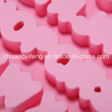Moulage de glace ou de chocolat de silicones formé par lettre de produits de cuisine