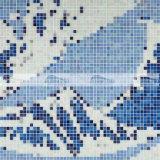 Mosaico mural de cristal de fusión de la marca de fábrica de Bluwhale para la piscina (BGE041)