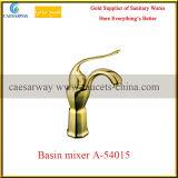 De gouden Enige Tapkraan van het Water van het Bassin van de Badkamers van het Chroom van de Waren van het Handvat Sanitaire