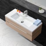 Lavabo superficial sólido del cuarto de baño de la cabina del fregadero de la vanidad de Europa