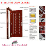 GlassのRated 2時間のFire Steel Matel Door