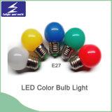 Lumière d'ampoule colorée du matériau DEL du PC E27/B22