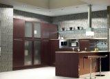 Cozinhas baratas do bloco liso das cozinhas dos armários DIY da cozinha de China