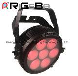 Heller Rasiermesser Q7 PFEILER Rgbwy 5 in einem Leistungs-Minialuminium LED NENNWERT Licht 64 der Leistungs-IP65 super dünne 7*25W LED