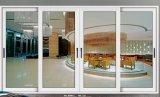 Porte coulissante en aluminium avec le verre de double d'article