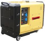 Тип охлаженный воздухом молчком портативный тепловозный генератор
