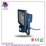 Luz de inundação elevada do diodo emissor de luz do sensor do lúmen 30W com CE & RoHS