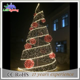 Luz simples da árvore do cone do Natal do diodo emissor de luz da decoração interna