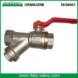Подгонянный шариковый клапан Y-Стрейнера качества покрынный латунью (AV1047)