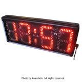 """8 """" 4 손가락 반 옥외 LED 디지털 시계는, 정규 시계 기능 및 Countdown/up 기능, 빨간색을 지원한다"""